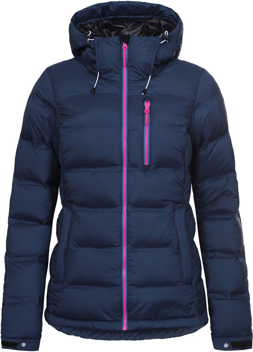 Куртка женская Icepeak, цвет: синий. 853195660IV_365. Размер 34 (40)853195660IV_365Куртка женская Icepeak выполнена из полиамида. Модель с длинными рукавами и капюшоном застегивается на застежку-молнию.