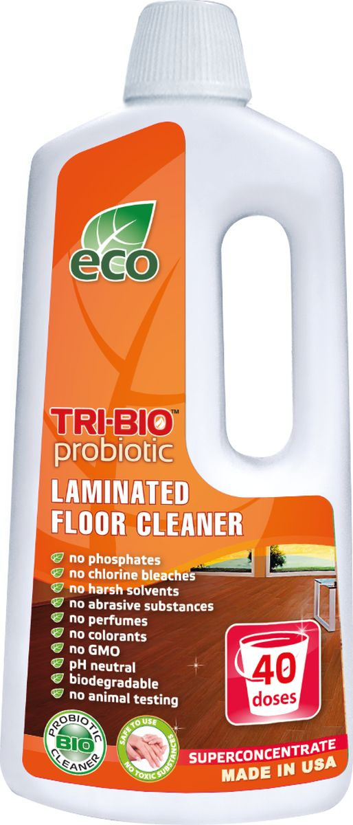 Биосредство для мытья ламинированных полов Tri-Bio, 940 мл0025Биосредство Tri-Bio эффективно моет ламинированные полы, не оставляя разводов. Удаляет любые загрязнения. Защищает ламинированный пол от влаги. Ликвидирует неприятные запахи. Обладает освежающим эффектом. Ухаживает за ламинитом, продлевая срок службы. В отличие от стандартных химических продуктов легко проникает в швы, позволяет обеспечить более длительный контроль запаха и более глубокую чистку.Не содержит фосфатов, растворителей, хлора отбеливающих веществ, абразивных веществ, отдушек, красителей и токсичных веществ. Нейтральный pH. Гипоаллергенно. Безопасная альтернатива химическим аналогам. Присвоен сертификат ECO GREEN. Рекомендуется для людей склонных к аллергическим реакциям и страдающих астмой.Низкий уровень ЛОС, легко биоразлагаемо, минимальное влияние на водные организмы, рециклируемые упаковочные материалы, не испытывалось на животных. Особо рекомендуется использовать в домах с автономной канализацией.Состав: Пробиотическое средство содержащее: воду, микроорганизмы (класс 1 непатогенные), Alkyl(C9-11) alcohol, ethoxylated (органический, из кокосового масла, пальмового масла или сои), C12-15, ethoxylated (органический, из кокосового масла, пальмового масла или сои), Sodium salt of fatty C12-14 alcohol ether(2 EO)sulfate (органический, из кокосового масла), 1,2-propanediol (органический, из морских водорослей), Сода, Kathon CG (эко, консервант для бытовой продукции, без формальдегида и галогенов).BR>Товар сертифицирован.