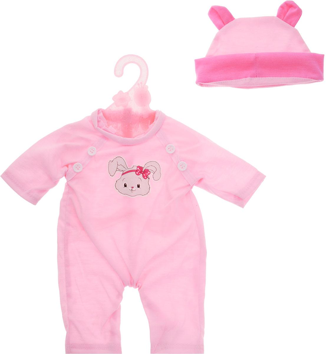 Mary Poppins Одежда для кукол Костюмчик с шапочкой цвет розовый