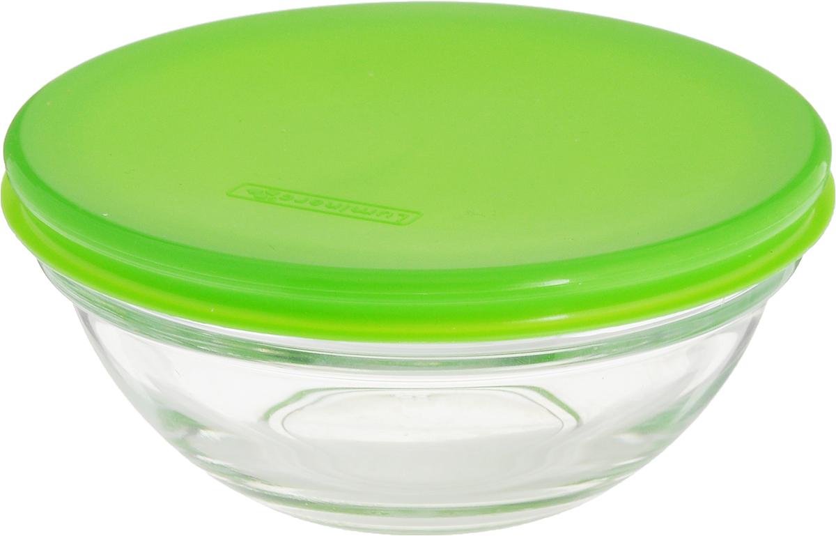Салатник Luminarc Empilable, с крышкой, цвет: зеленый, диаметр 12 смL7984_зеленыйСалатник Luminarc Empilable, изготовленный из высококачественного стекла, прекрасно впишется в интерьер вашей кухни и станет достойным дополнением к кухонному инвентарю. Изделие оснащено плотно прилегающей крышкой из пластика. Такой салатник не только украсит ваш кухонный стол и подчеркнет прекрасный вкус хозяйки, но и станет отличным подарком.Диаметр по верхнему краю: 12 см.