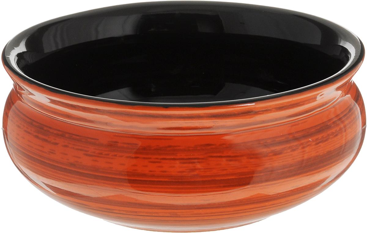 Тарелка глубокая Борисовская керамика Скифская, цвет: оранжевый, коричневый, черный, 500 мл10335SLBD15Глубокая тарелка Борисовская керамика Скифская выполненаиз керамики. Изделие сочетает в себе изысканный дизайн смаксимальной функциональностью. Она прекрасно впишется винтерьер вашей кухни и станет достойным дополнением ккухонному инвентарю.Такая тарелка подчеркнет прекрасный вкус хозяйки и станетотличным подарком.Можно использовать в духовке и микроволновой печи.Диаметр тарелки (по верхнему краю): 14 см. Объем: 500 мл.