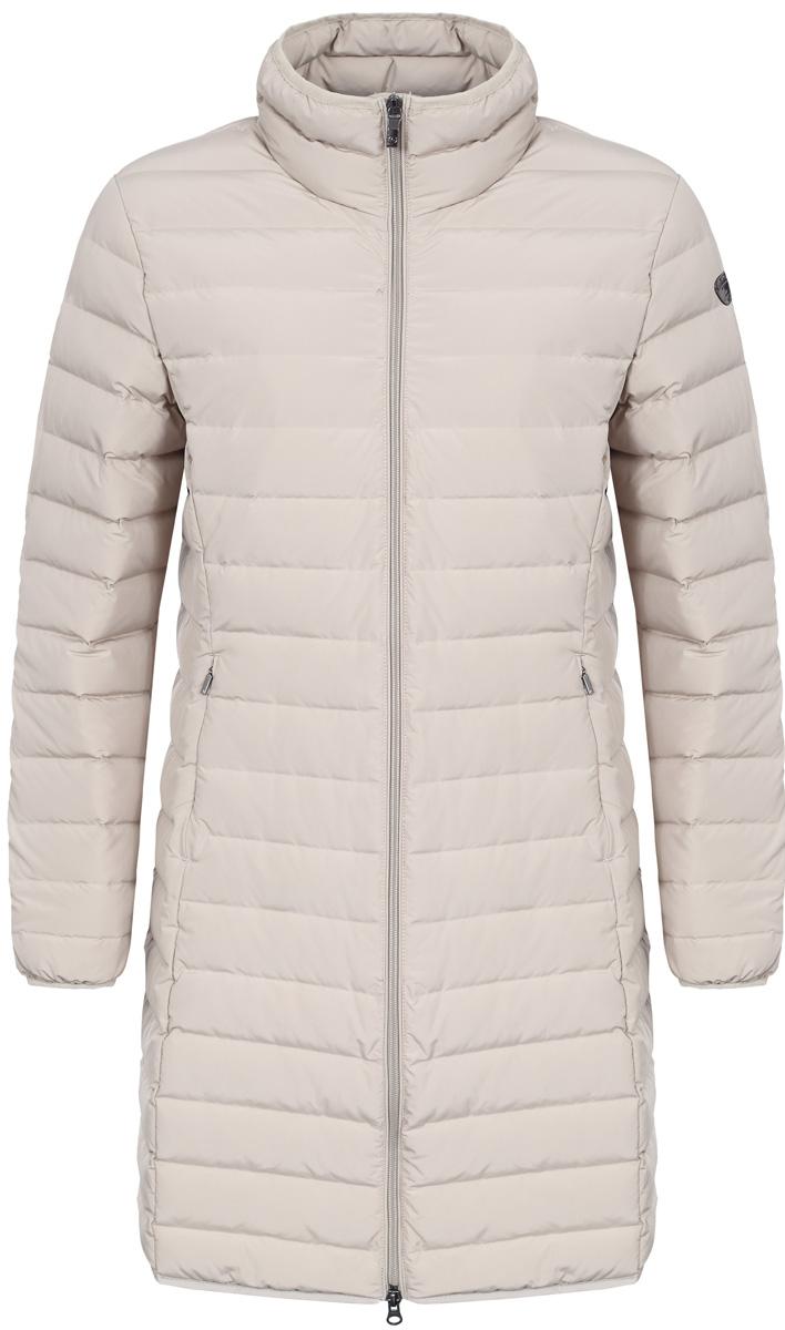 Пальто женское Luhta, цвет: бежевый. 838448370LV_032. Размер 40 (48)838448370LV_032Женское пальто Luhta выполнено из высококачественного полиэстера. Модель с воротником-стойка застегивается на молнию. Изделие имеет приталенный силуэт. Спереди расположены два прорезных кармана на молниях.