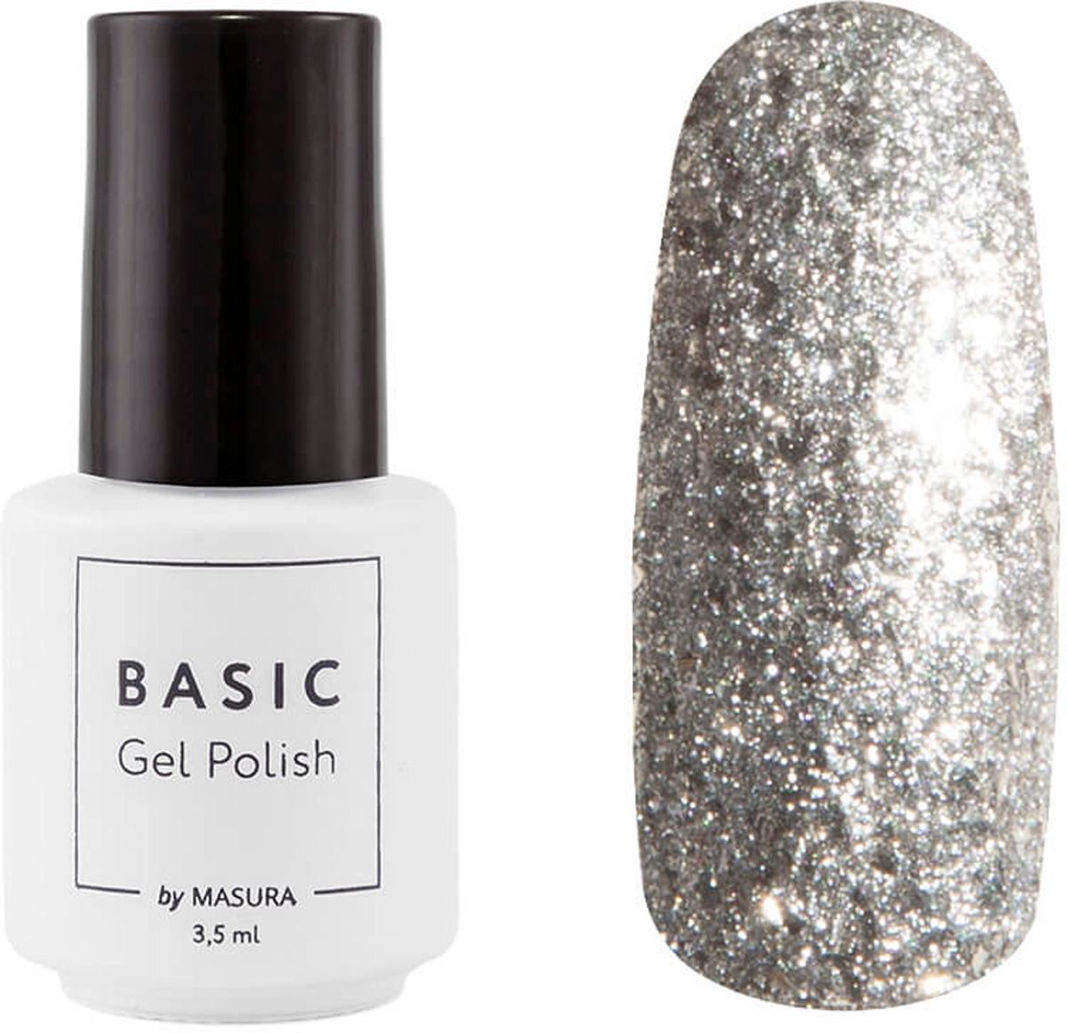 Masura Гель-лак Basic Алмазная Крошка, 3,5 мл294-363Серебристый с серебряными частицами разного размера, плотныйКак ухаживать за ногтями: советы эксперта. Статья OZON Гид