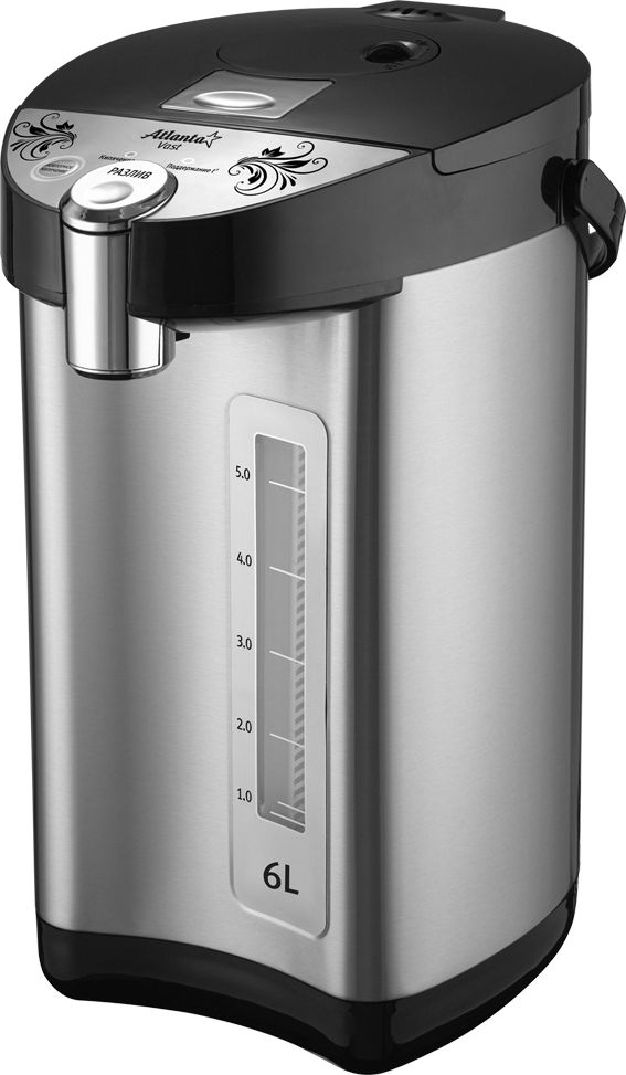 Atlanta ATH-2665, Black чайник-термосATH-2665 blackAtlanta ATH-2665 сочетает в себе функции чайника и термоса. Устройство рассчитано на то, чтобы удерживать долгое время температуру и автоматически кипятить воду. Имеет функции автоматической подачи воды; автоматического подогрева и принудительного кипячения.