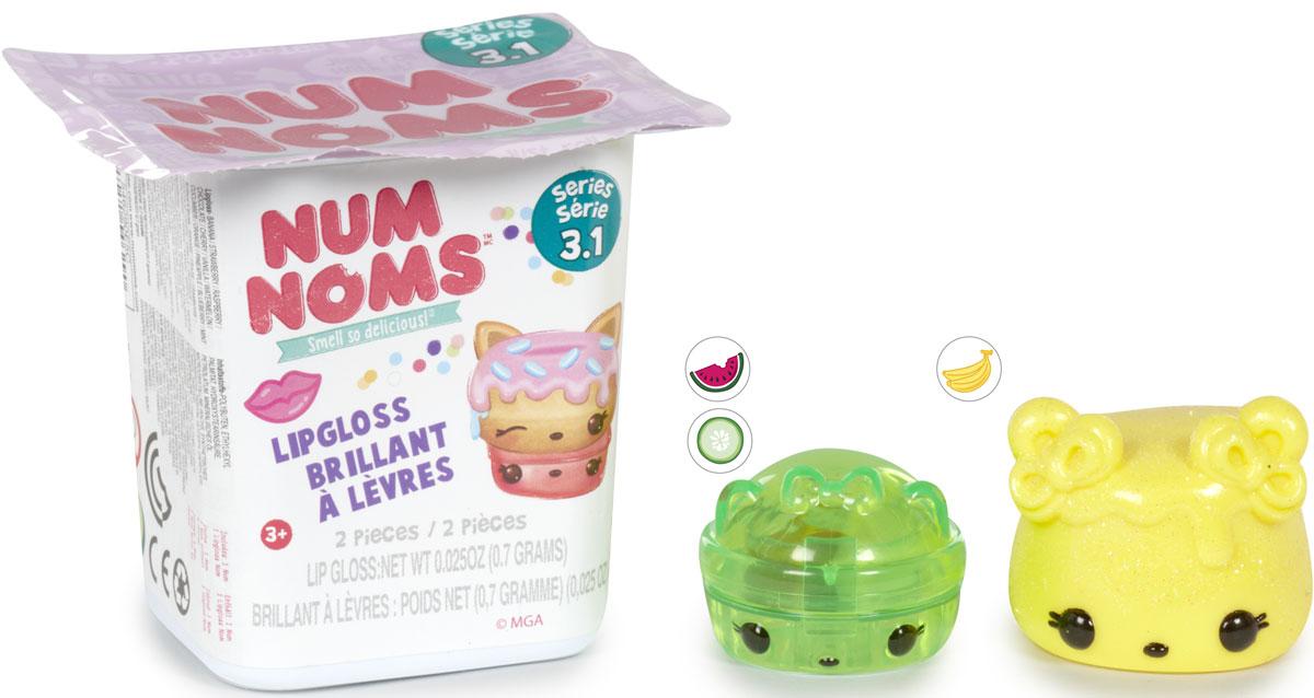 Num Noms Блеск для губ детский 2 шт546283Ароматизированные сердцевинки Nom, которые являются двухслойным блеском или блеском с блестками.Дополнительный бонус: сердцевинки - блески надеваются на карандаш, имеют специальные углубления! Упаковка в стиле йогуртовой баночки, картонный дисплей в форме автобуса.Внутри каждого йогурта постер со всеми персонажами. Собери всю коллекцию!