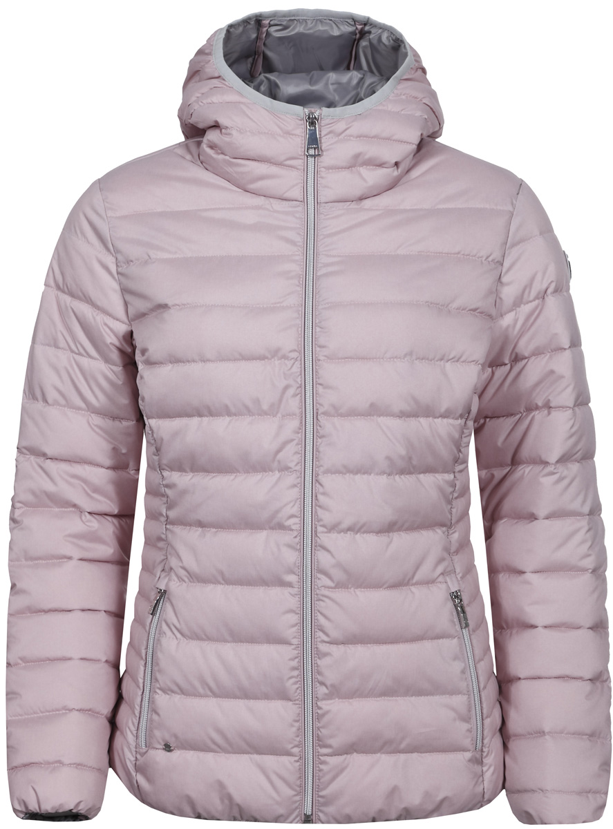 Куртка женская Luhta, цвет: светло-розовый. 838416352LV_620. Размер 36 (44)838416352LV_620Женская куртка Luhta с длинными рукавами и капюшоном выполнена из полиэстера. Модель дополнена прострочкой. Куртка застегивается на застежку-молнию спереди. Изделие дополнено двумя прорезными карманами на застежках - молниях.