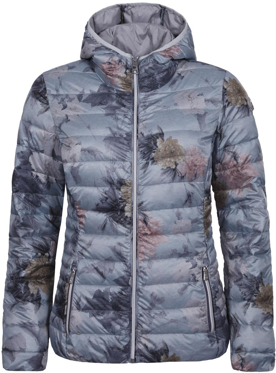 Куртка женская Luhta, цвет: светло-серый. 838416364LV_205. Размер 38 (46)838416364LV_205Женская куртка Luhta с длинными рукавами и капюшоном выполнена из полиэстера. Модель дополнена прострочкой. Куртка застегивается на застежку-молнию спереди. Изделие дополнено двумя прорезными карманами на застежках - молниях.