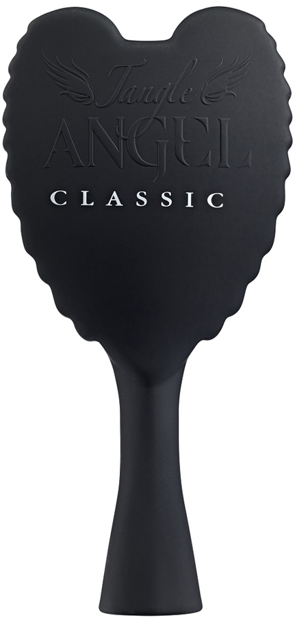 Tangle Angel Расческа для волос Classic Black (Black Bristles)21012Профессиональная расческа Tangle Angel изготовлена из прочного и практичного пластика. Корпус расчески выгодно отличается крыльями ангела, которые стали отличительной чертой этого английского бренда. Ручка расчески удобно располагается в руке. Расческа Tangle Angel с легкостью справится даже с самыми запутанными локонами. Рекомендуется использовать для всех типов волос. При регулярном применении ваши волосы станут послушными, гладкими и шелковистыми. Расческа Tangle Angel имеет антибактериальное покрытие. Изготовлена из теплоустойчивого материала, можно использовать с феном. Главное отличие Tangle Angel Classic от основной расчески - это мягкий пластик корпуса, бархатный на ощупь.