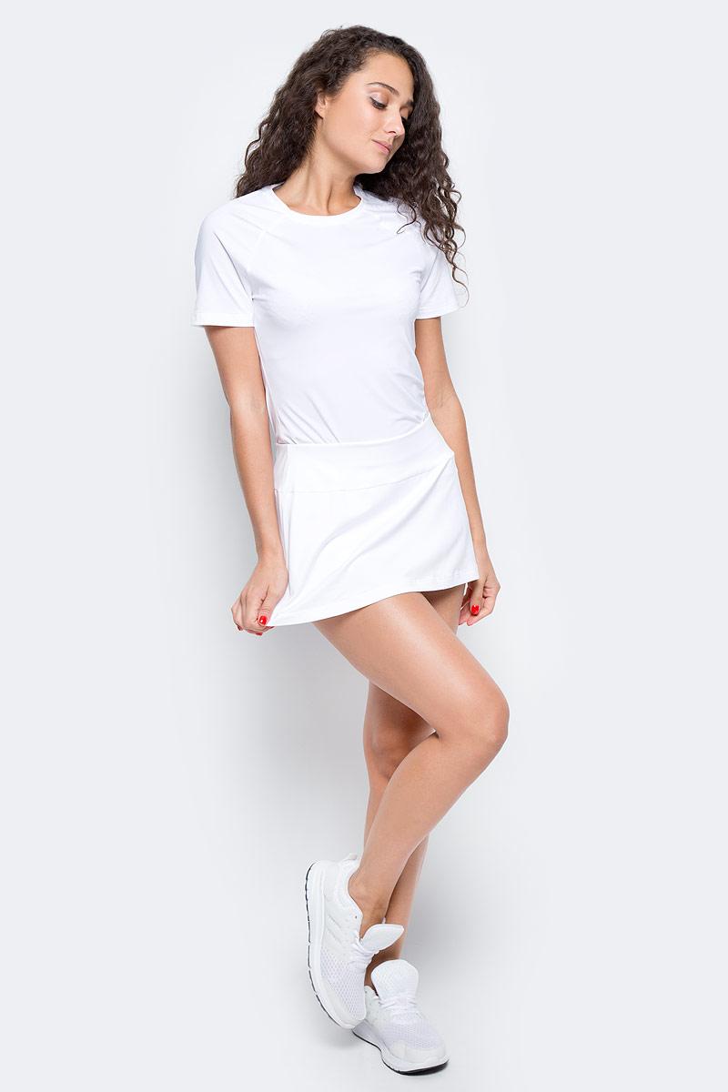 Юбка для тенниса Wilson Core 12.5 Skirt, цвет: белый. WRA750601. Размер L (48)WRA750601Юбка для тенниса с вшитыми компрессионными шортиками Wilson Core 12.5 Skirt изготовлена из полиэстера с добавлением эластана. Благодаря уникальному крою, юбка не сковывает движения, а актуальный дизайн добавляет изящности спортивному образу. Широкий эластичный пояс защищает кожу от натираний и дарит ощущение комфорта в течение всей тренировки.