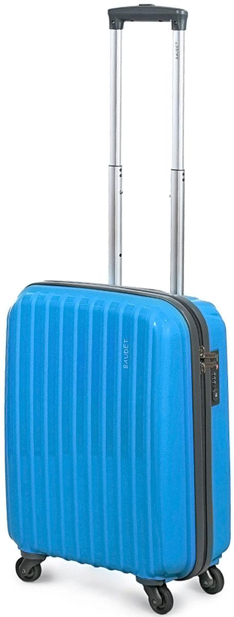 Чемодан Baudet, на колесах, цвет: бирюзовый, 50 х 39 х 18 см, 35 л чемодан samsonite чемодан 55 см lite biz