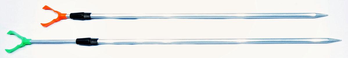 Подставка под удочку AGP, цвет: серый, высота 160 см