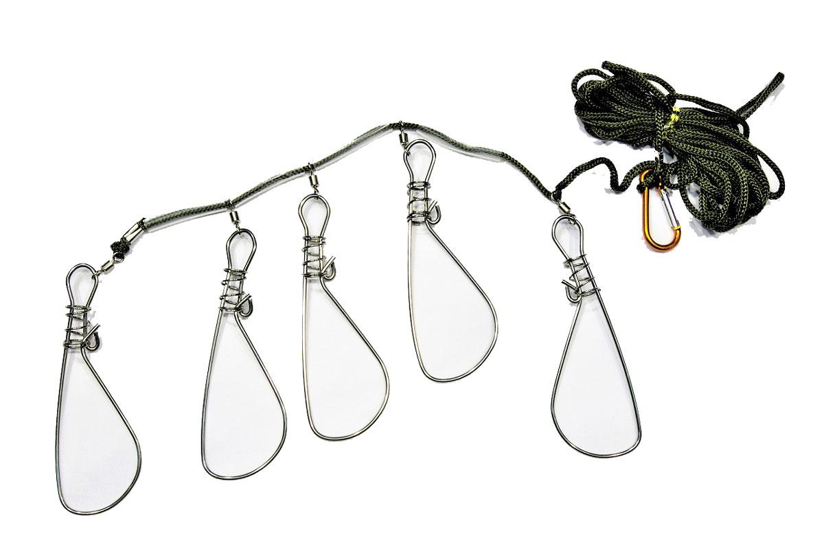 Кукан рыболовный AGP, цвет: темно-зеленый475323Кукан AGP применяет для хранения и транспортировки пойманной рыбы, закрепляют его к поясу. Он представляет собой шнур с проволочным крюком на конце. Пойманную рыбу, осторожно сняв с крючка, сажают на кукан. В подводной охоте нужен для удержания добытой рыбы во время охоты. Кукан снабжен поплавком.