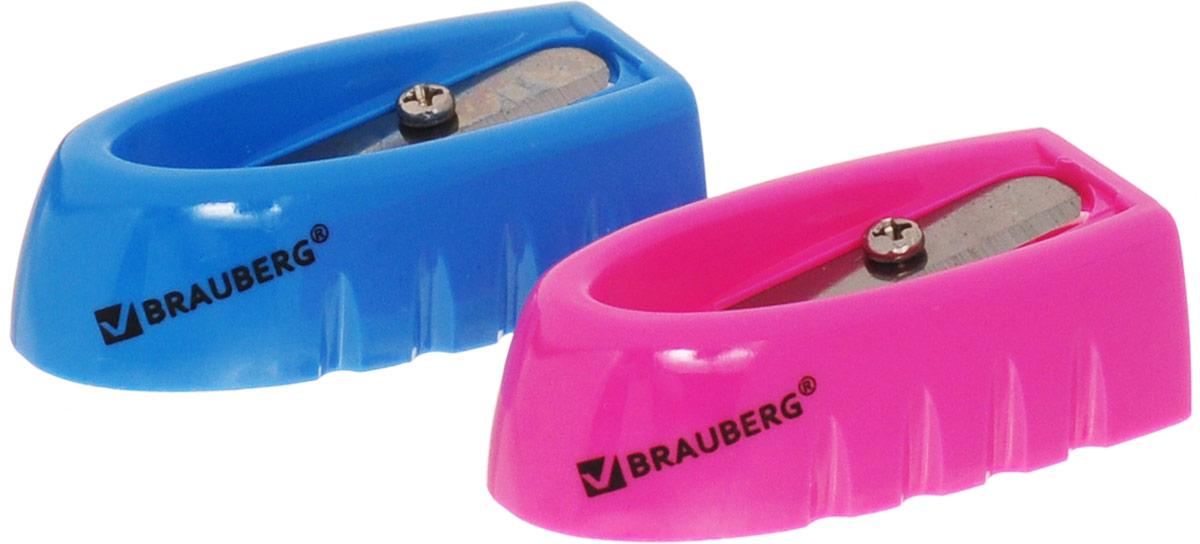 Brauberg Точилка ErgoColor цвет синий розовый 2 шт222503_синий, розовыйКачественное стальное лезвие обеспечивает легкое равномерное затачивание карандашей. Точилка предназначена для затачивания деревянных и пластиковых карандашей.