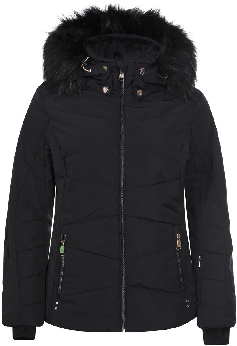Куртка женская Luhta, цвет: черный. 838436374L7V_990. Размер 42 (50)838436374L7V_990Женская куртка Luhta выполнена из непромокаемой ветрозащитной ткани. Куртка с воротником-стойкой и капюшоном застегивается на удобную застежку-молнию спереди. Рукава дополнены внутренними эластичными манжетами. Спереди расположены втачные карманы на застежках-молниях.