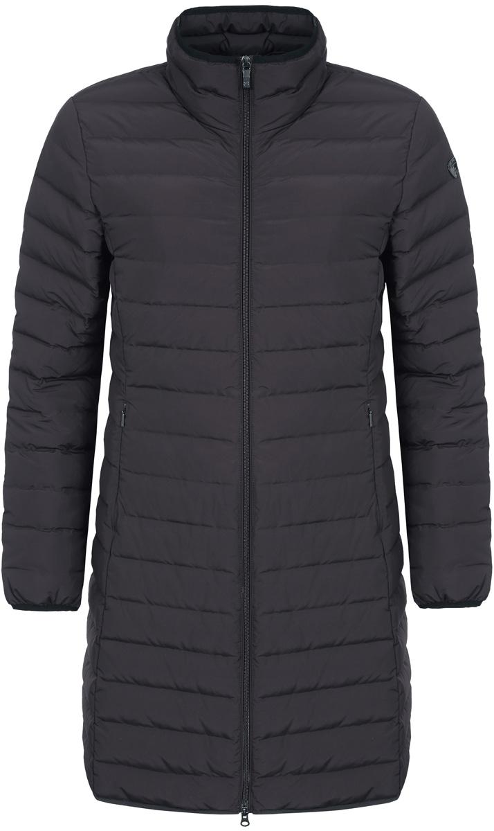 Пальто женское Luhta, цвет: черный. 838448370LV_990. Размер 40 (48)838448370LV_990Женское пальто Luhta выполнено из высококачественного полиэстера. Модель с воротником-стойка застегивается на молнию. Изделие имеет приталенный силуэт. Спереди расположены два прорезных кармана на молниях.