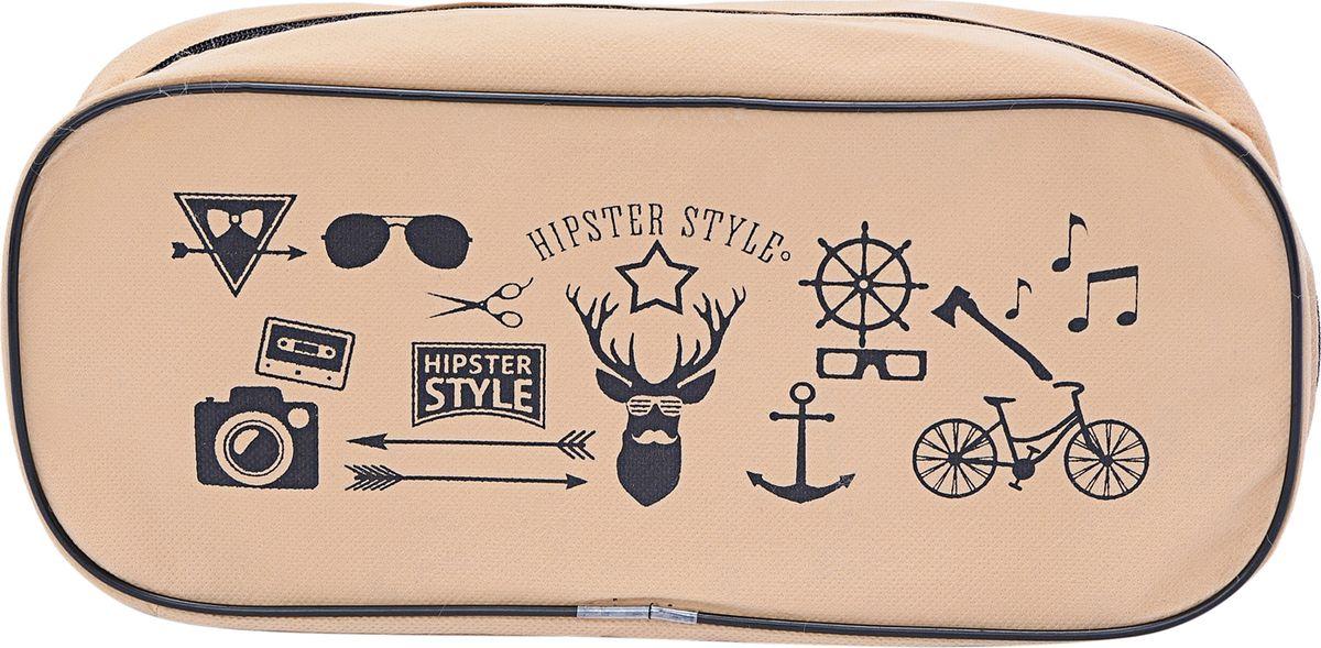 Органайзер для обуви Homsu Hipster Style, цвет: черный, темно-бежевый, 35 х 15 х 11 см органайзер homsu hipster style 31 х 24 х 11 см hom 759
