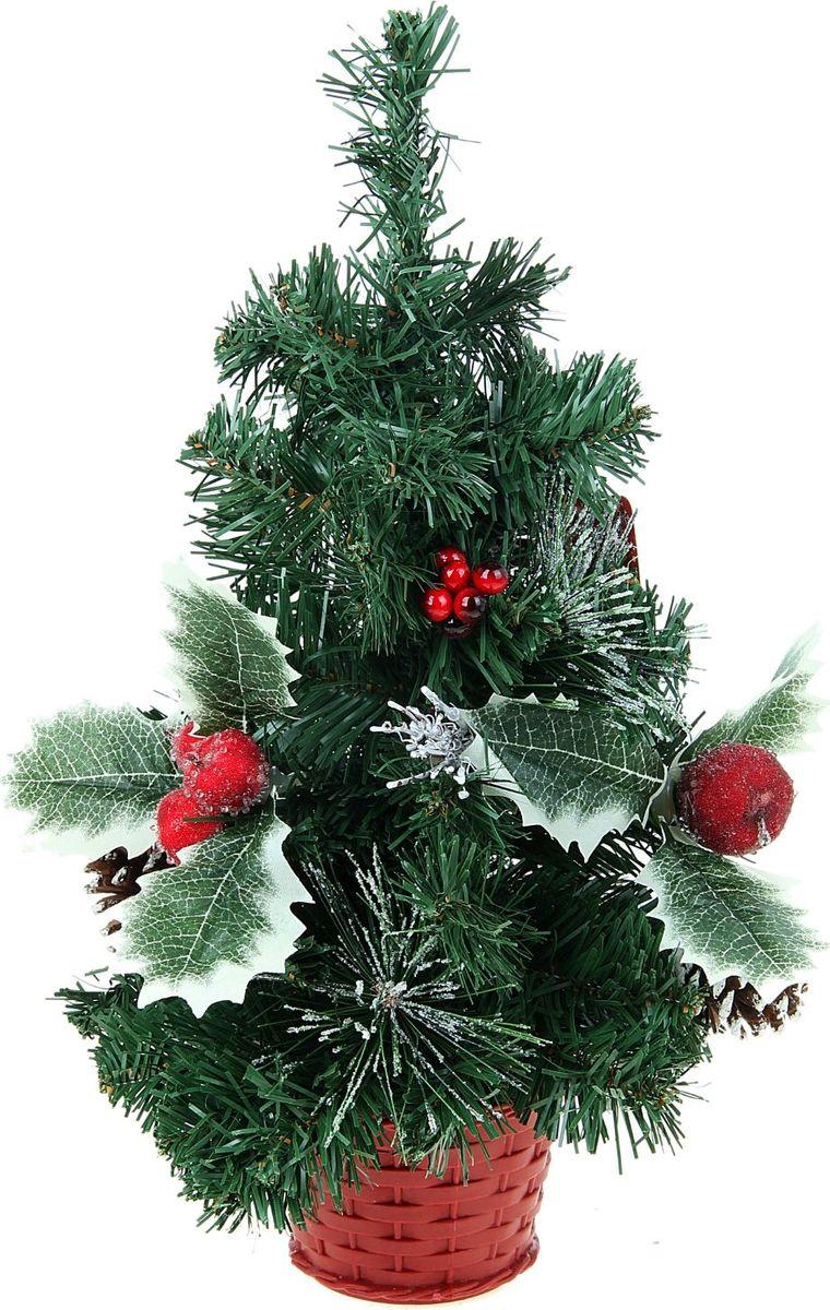 Ель искусственная Sima-land Новогодняя елочка, настольная, высота 40 см706049Пушистые веточки, шишки, припорошенные снежком, и веточки рождественскойомелы создадут новогоднее настроение. Такую ель не нужноукрашать - она уже нарядная. А благодаря аккуратному горшочку, в которыйпомещена елочка, она станет прекрасным украшением любогоинтерьера.Ель прикреплена кпластиковому горшочку.