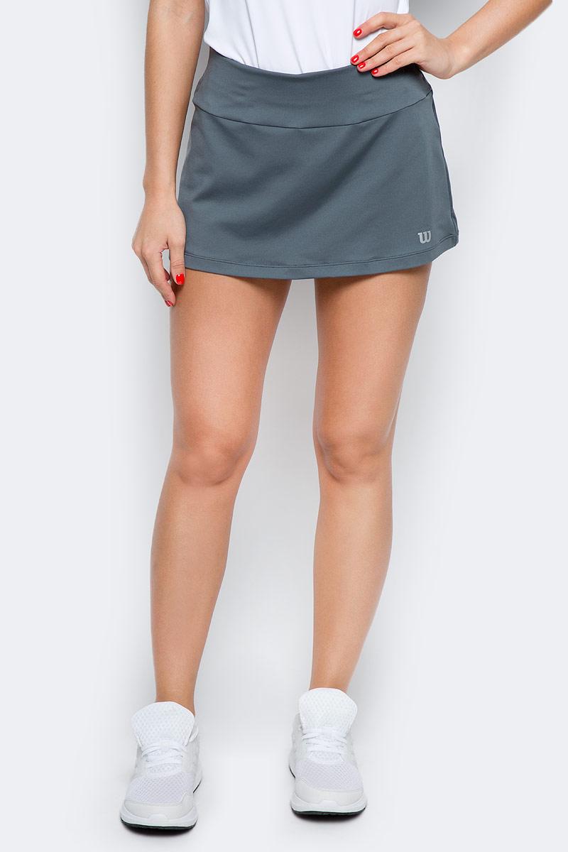 Юбка для тенниса Wilson Core 12.5 Skirt, цвет: светло-серый. WRA750603. Размер XL (50)WRA750603Элегантная спортивная юбка Wilson из коллекции Core. Классический силуэт, вшитые компрессионные шортики и технология отвода влаги nanoWIK для оптимального комфорта.