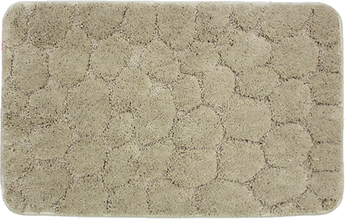 Коврик для ванной комнаты Dasch Милена, цвет: бежевый, 50 х 80 см коврик круглый для ванной dasch авангард