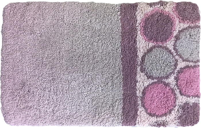 Коврик для Dasch Николь, цвет: сиреневый, лиловый, 50 х 80 см коврик для ванной dasch джулия