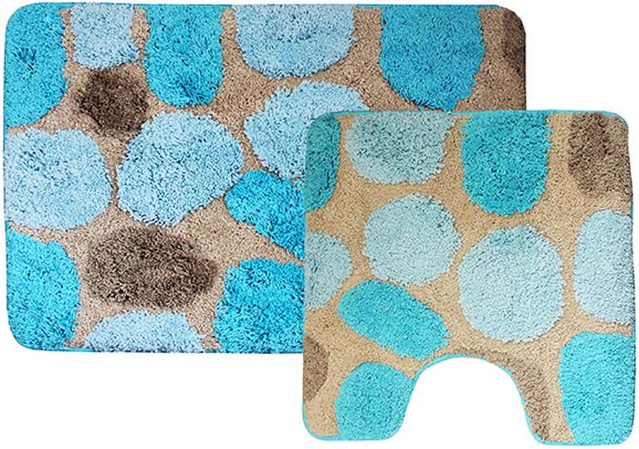 Комплект ковриков для ванной Dasch Лора, цвет: синий, 2 предмета4528Невероятно мягкий комплект ворсовых ковриков для ванной комнаты и туалета. Ворс выполнен из микрофибры по уникальной технологии, разработанной специально для этой коллекции. Тончайшая микрофибра закручена в нить ворса таким образом, что она наполнена воздухом, и буквально дышит, что делает ворс невероятно мягким и нежным на ощупь. Благодаря такой технологии изготовления коврик обладает высокими влаговпитывающими свойствами. Яркие расцветки достигаются окрасом нитей высококачественными красителями, которые дают насыщенный цвет, не выцветают со временем и не линяют при стирке и использовании. Основание коврика выполнено из высококачественного латекса, который обеспечивает противоскользящий эффект, не крошится даже при длительном использовании. Коврик подходит для пола с подогревом. Допускается деликатная ручная или машинная стирка при t=30 C. После стирки коврик быстро сохнет. Плотность ворса 700 гр/м2