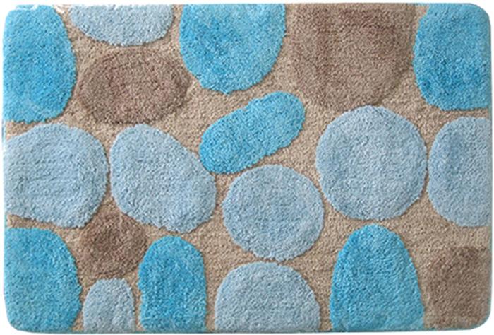 Коврик для ванной комнаты Dasch Лора, цвет: синий, 60 х 100 см коврик круглый для ванной dasch авангард