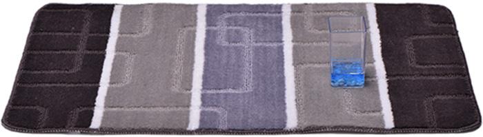 Коврик для ванной комнаты Dasch Авангард, цвет: серый, сиреневый, 50 х 80 см коврик для ванной dasch джулия