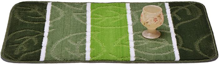 Коврик для ванной Dasch Листопад, цвет: зеленый, 50 х 80 см5730Практичный ворсовый коврик для ванной комнаты. Интересный и яркий дизайн. Коврик обладает хорошими влаговпитывающими свойствами, рисунок не выцветает и не линяет. Основание коврика выполнено из латекса, который обеспечивает противоскользящий эффект, коврик не крошится. Допускается ручная или машинная стирка при температуре не более 40°C. После стирки коврик быстро сохнет.Плотность ворса: 450 гр/м2.