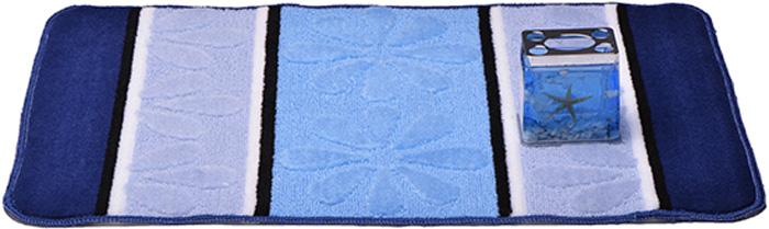 Коврик для ванной комнаты Dasch Ромашка, цвет: синий, голубой, 50 х 80 см5732Практичный ворсовый коврик для ванной комнаты. Интересный и яркий дизайн. Коврик обладает хорошими влаговпитывающими свойствами, рисунок не выцветает и не линяет. Основание коврика выполнено из латекса, который обеспечивает противоскользящий эффект, коврик не крошится. Допускается ручная или машинная стирка при температуре не более 40 C. После стирки коврик быстро сохнет. Плотность ворса 450 гр/м2.