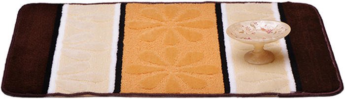 Коврик для ванной комнаты Dasch Ромашка, 50 х 80 см5733Практичный ворсовый коврик для ванной комнаты Dasch Ромашка имеет интересный и яркий дизайн. Коврик обладает хорошими влаговпитывающими свойствами, рисунок не выцветает и не линяет. Основание коврика выполнено из латекса, который обеспечивает противоскользящий эффект. Коврик не крошится. Допускается ручная или машинная стирка при температуре не более 40°C. После стирки коврик быстро сохнет. Плотность ворса: 450 гр/м2.