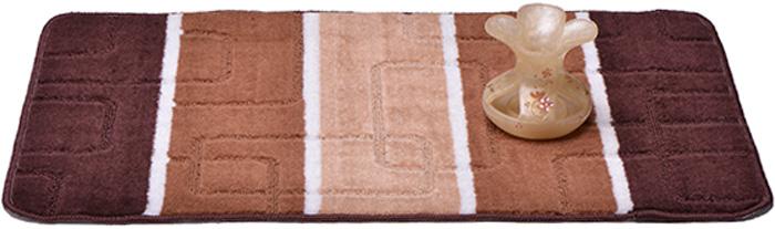 Коврик для ванной комнаты Dasch Авангард, цвет: коричневый, 50 х 80 см5735Практичный ворсовый коврик для ванной комнаты. Интересный и яркий дизайн. Коврик обладает хорошими влаговпитывающими свойствами, рисунок не выцветает и не линяет. Основание коврика выполнено из латекса, который обеспечивает противоскользящий эффект, коврик не крошится. Допускается ручная или машинная стирка при температуре не более 40 C. После стирки коврик быстро сохнет. Плотность ворса 450 гр/м2.