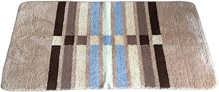 Коврик для ванной комнаты Dasch Параллели, цвет: бежевый, коричневый, 50 х 80 см коврик круглый для ванной dasch авангард