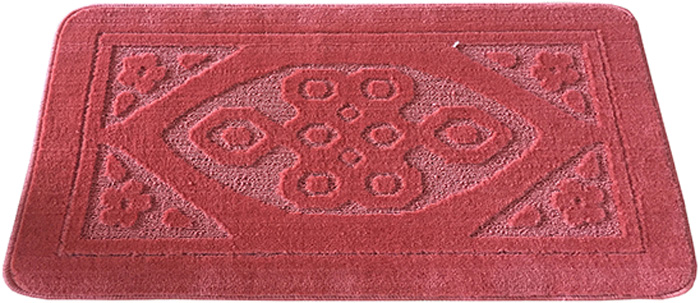 Коврик для ванной комнаты Dasch Узор, цвет: розовый, 50 х 80 см5740Практичный ворсовый коврик для ванной комнаты. Интересный и яркий дизайн. Коврик обладает хорошими влаговпитывающими свойствами, рисунок не выцветает и не линяет. Основание коврика выполнено из латекса, который обеспечивает противоскользящий эффект, коврик не крошится. Допускается ручная или машинная стирка при температуре не более 40 C. После стирки коврик быстро сохнет. Плотность ворса 450 гр/м2