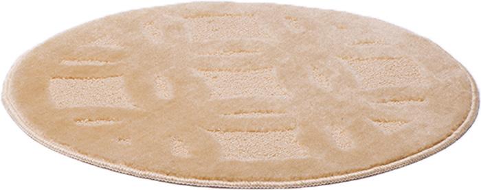 Коврик для ванной комнаты Dasch Квадро, цвет: бежевый, диаметр 55 см5744Практичный ворсовый коврик для ванной комнаты. Интересный и яркий дизайн. Коврик обладает хорошими влаговпитывающими свойствами, рисунок не выцветает и не линяет. Основание коврика выполнено из латекса, который обеспечивает противоскользящий эффект, коврик не крошится. Допускается ручная или машинная стирка при температуре не более 40 C. После стирки коврик быстро сохнет. Плотность ворса 450 гр/м2.