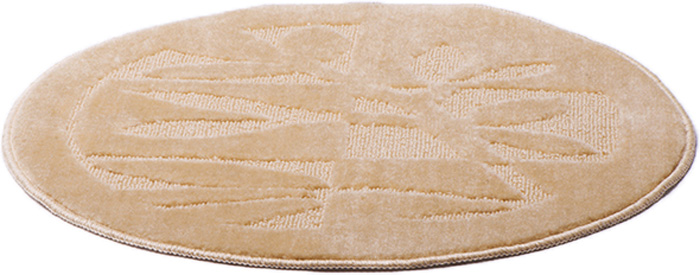 Коврик для ванной комнаты Dasch Лавр, цвет: бежевый, диаметр 55 см5745Практичный ворсовый коврик для ванной комнаты. Интересный и яркий дизайн. Коврик обладает хорошими влаговпитывающими свойствами, рисунок не выцветает и не линяет. Основание коврика выполнено из латекса, который обеспечивает противоскользящий эффект, коврик не крошится. Допускается ручная или машинная стирка при температуре не более 40 C. После стирки коврик быстро сохнет. Плотность ворса 450 гр/м2.
