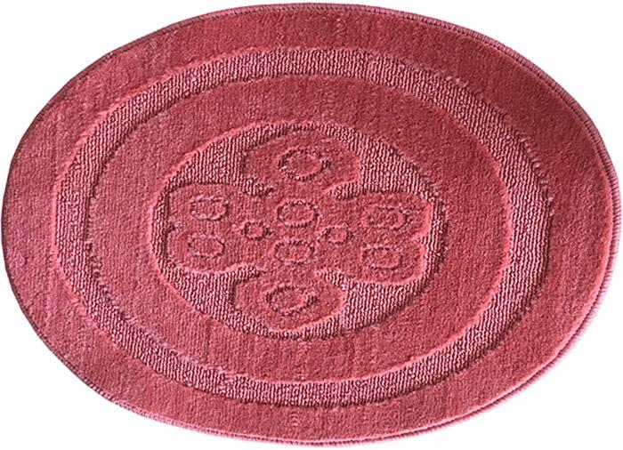 Коврик для ванной комнаты Dasch Узор, цвет: розовый, диаметр 55 см коврик для ванной dasch джулия
