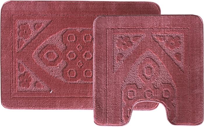 Комплект ковриков для ванной Dasch Узор, цвет: розовый, 2 предмета5756Практичный комплект ворсовых ковриков для ванной комнаты и туалета. Интересный и яркий дизайн. Коврик обладает хорошими влаговпитывающими свойствами, рисунок не выцветает и не линяет. Основание коврика выполнено из латекса, который обеспечивает противоскользящий эффект, коврик не крошится. Допускается ручная или машинная стирка при температуре не более 40 C. После стирки коврик быстро сохнет. Плотность ворса 450 гр/м2