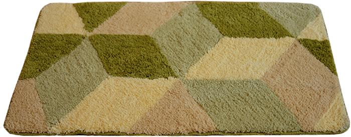 Коврик для ванной Dasch Орнелла, цвет: зеленый, коричневый, 60 х 100 см коврик круглый для ванной dasch авангард