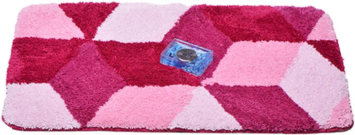Коврик для ванной Dasch Орнелла, цвет: розовый, 60 х 100 см5808Невероятно мягкий ворсовый коврик для вашей ванной комнаты. Ворс выполнен из микрофибры по уникальной технологии, разработанной специально для этой коллекции. Тончайшая микрофибра закручена в нить ворса таким образом, что она наполнена воздухом, и буквально дышит, что делает ворс невероятно мягким и нежным на ощупь. Благодаря такой технологии изготовления коврик обладает высокими влаговпитывающими свойствами. Яркие расцветки достигаются окрасом нитей высококачественными красителями, которые дают насыщенный цвет, не выцветают со временем и не линяют при стирке и использовании. Основание коврика выполнено из высококачественного латекса, который обеспечивает противоскользящий эффект, не крошится даже при длительном использовании. Коврик подходит для пола с подогревом. Допускается деликатная ручная или машинная стирка при t=30°С. После стирки коврик быстро сохнет.Плотность ворса: 700 гр/м2.