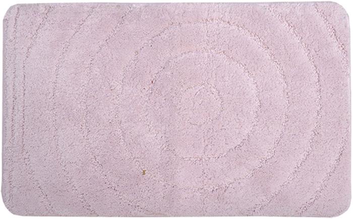 Коврик для ванной комнаты Dasch Джулия, цвет: розовый, 50 х 80 см коврик круглый для ванной dasch авангард
