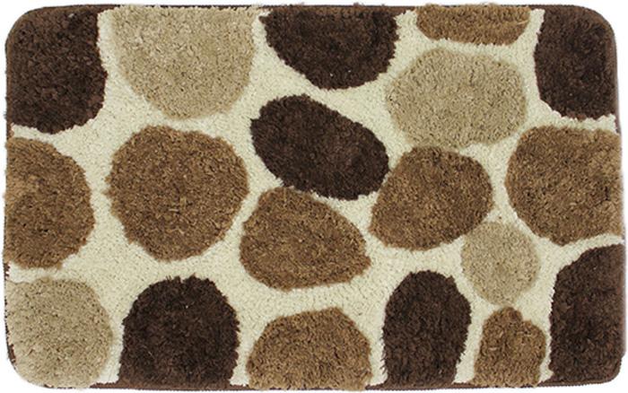 Коврик для ванной Dasch Лора, цвет: коричневый, бежевый, 50 х 80 см коврик круглый для ванной dasch авангард
