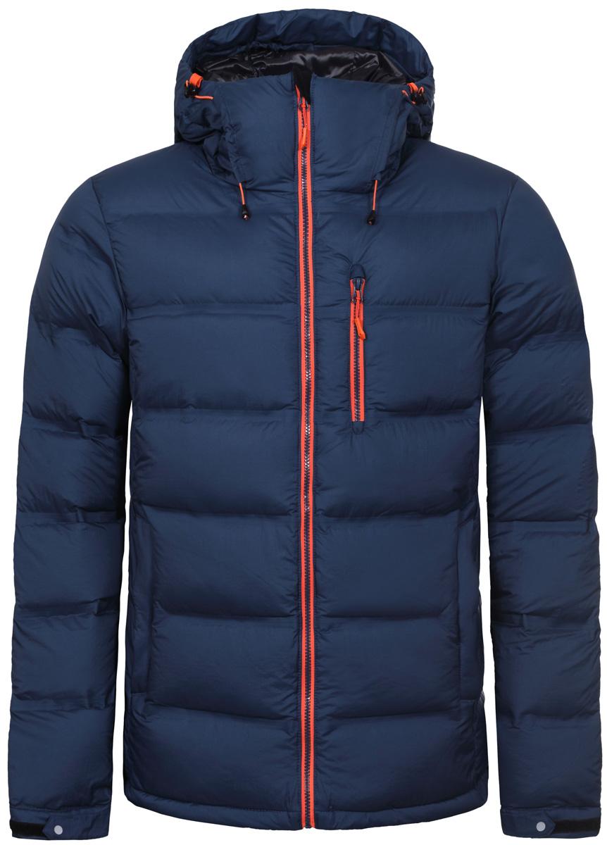 Куртка мужская Icepeak, цвет: синий. 856195660IV_365. Размер 54856195660IV_365Куртка мужская Icepeak выполнена из полиамида. Модель с длинными рукавами и капюшоном застегивается на застежку-молнию.