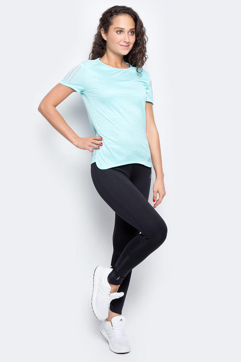 Тайтсы для бега женские Adidas Rs Clima Warm Tgt, цвет: черный. BR0831. Размер M (46/48)BR0831Женские тайтсы для бега Adidas изготовлены из полиэстера с добавлением эластана. Модель дополнена широкой эластичной резинкой на талии. Комфортные плоские швы исключают риск натирания даже во время интенсивных занятий спортом. Модель дополнена светоотражающими полосками.