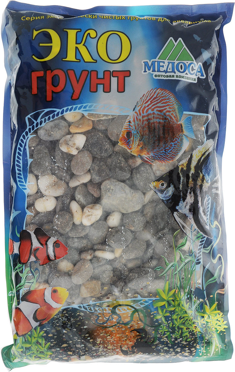 Грунт для аквариума ЭКОгрунт Феодосия №4, галька, 15-20 мм, 3,5 кг галька реликтовая эко грунт для аквариумов 4 8 мм 3 5 кг