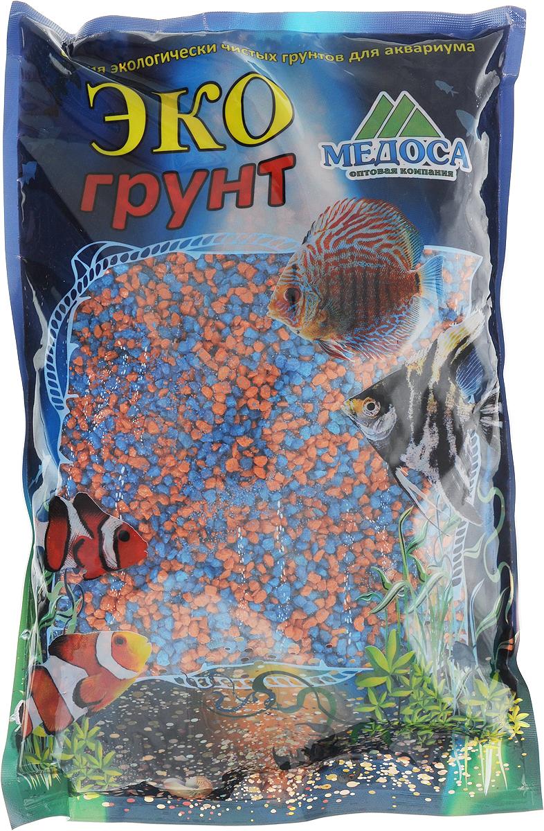 Грунт для аквариума ЭКОгрунт, мраморная крошка, цвет: оранжевый, голубой, 2-5 мм, 3,5 кгг-1011Натуральный природный грунт ЭКОгрунт прекрасно подходит для применения в пресноводных аквариумах, а также в полюдариумах и террариумах.Грунт является субстратом для укоренения водных растений и служит неотъемлемой частью естественной среды обитания рыб. Безопасен для всех видов рыб и живых растений. Рекомендуется перед использованием грунт промыть.