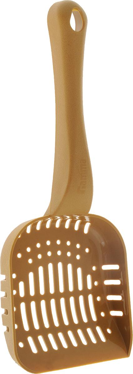 Совок Гамма для кошачьего туалета, цвет: горчичный, длина 26 смПг-08000_горчичныйСовок для кошачьего туалета Гамма изготовлен из полипропилена. Рабочая поверхность совка с мелкой и крупной сеткой позволяет освободить туалет от образовавшихся комков и просеять наполнитель. На ручке совка есть отверстие для подвешивания на стену. С помощью этого совка вы сможете быстро и качественно убрать туалет кошки.Длина совка: 26 см.Размер рабочей поверхности: 10 х 11 см.