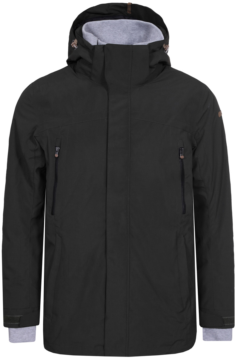 Куртка мужская Icepeak, цвет: темно-зеленый. 856070575IV_585. Размер 48856070575IV_585Куртка мужская Icepeak выполнена из полиэстера. Модель с длинными рукавами и капюшоном застегивается на комбинированную застежку.