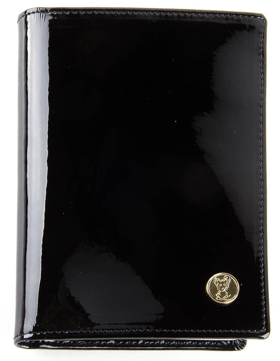 Обложка для автодокументов женская Topo Fortunato, цвет: черный. TF 3310-092АTF 3310-092АОбложка на автодокументы натуральная кожа