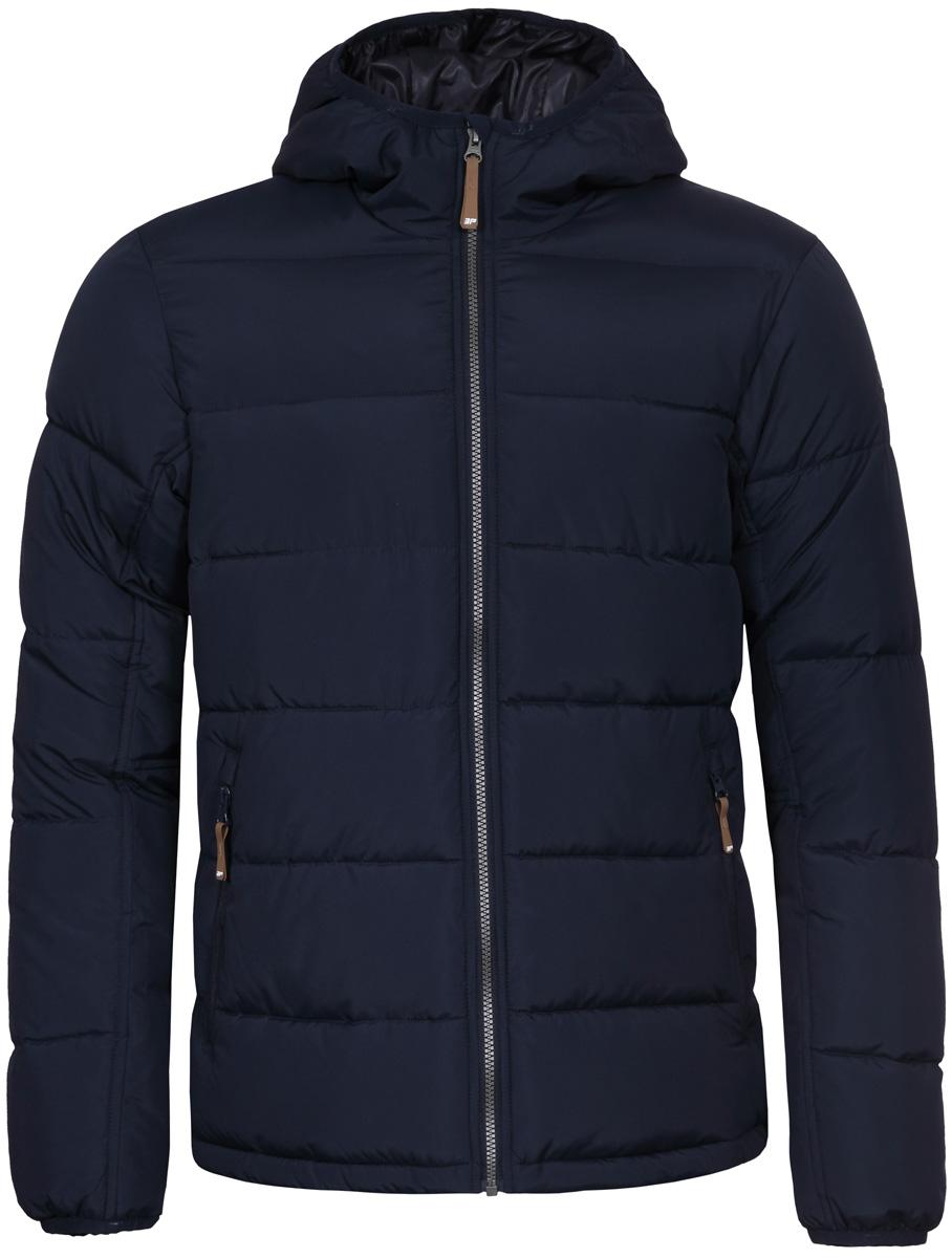 Куртка мужская Icepeak, цвет: темно-синий. 856035520IV_390. Размер 50856035520IV_390Мужская куртка Icepeak с длинными рукавами и несъемным капюшоном выполнена из прочного полиэстера. Модель застегивается спереди на застежку-молнию. Изделие имеет спереди два втачных кармана на молнии. Куртка дополнена прострочкой.