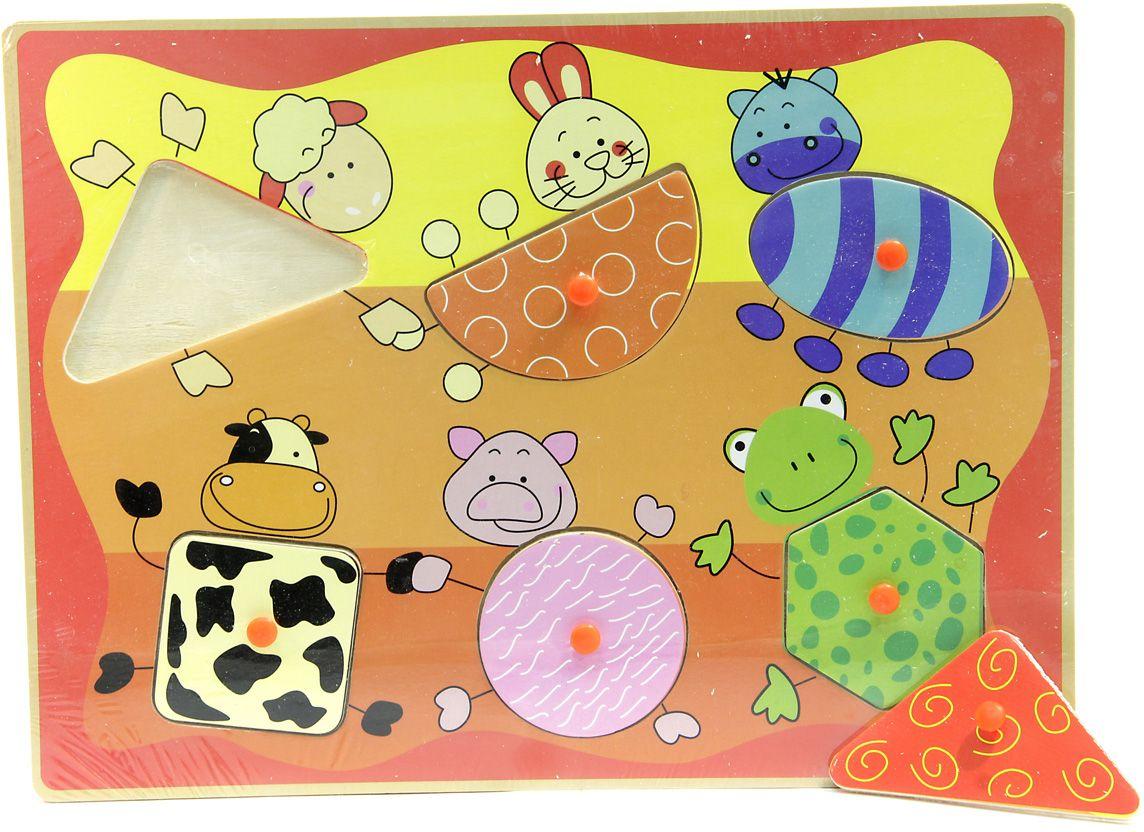 Фабрика Фантазий Пазл для малышей рамка-вкладыш Животные фабрика фантазий пазл для малышей мишка